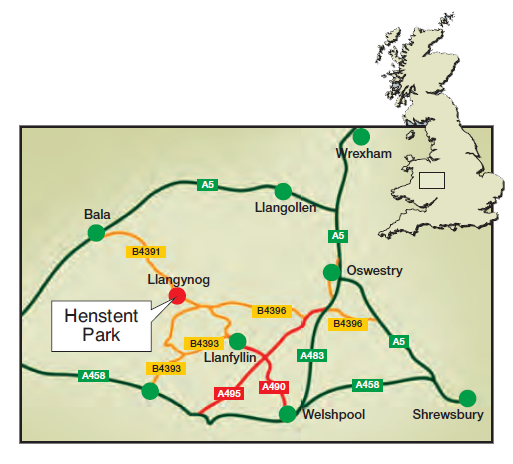 Henstent Brochure Map